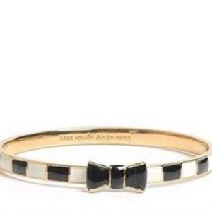 Black & White Kate Spade Bow Bracelet
